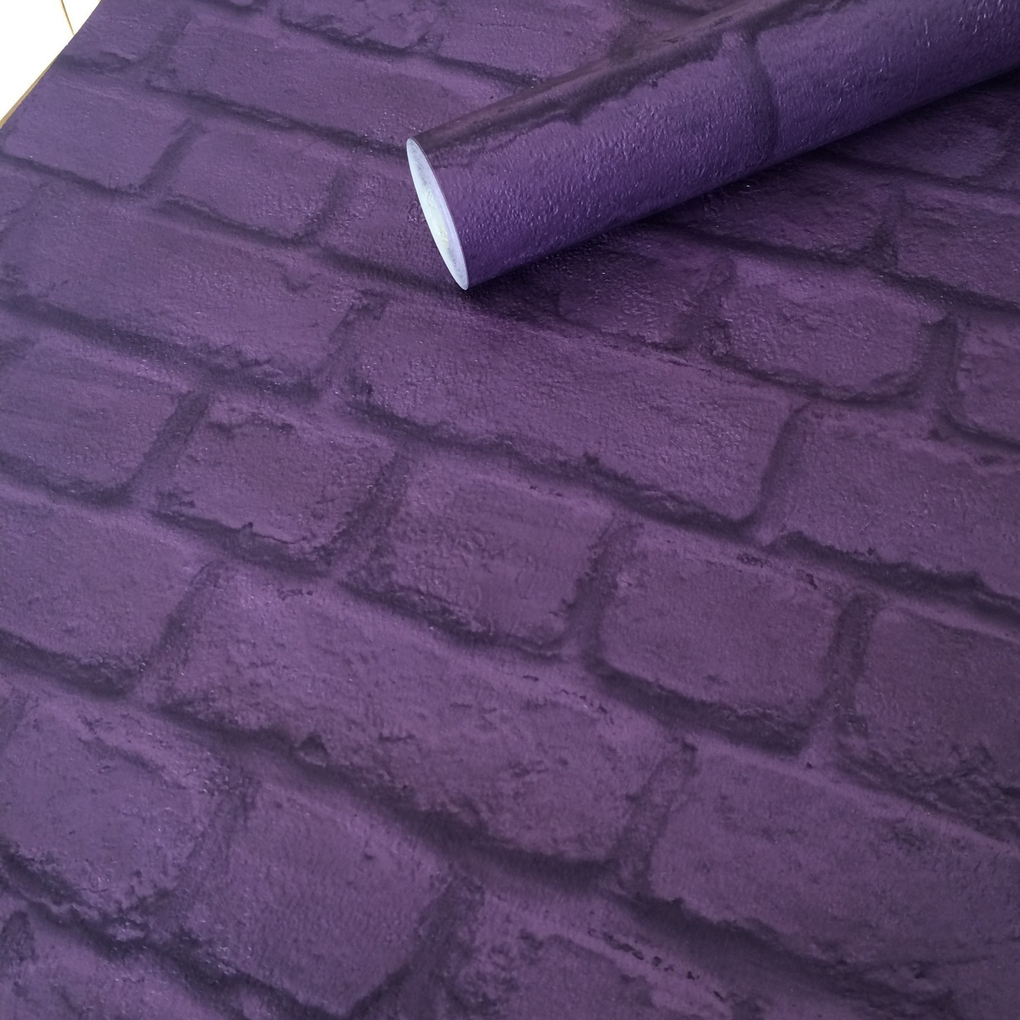 O 39 neills decorating centres salford mosesgate heywood for Purple brick wallpaper